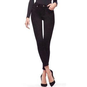 GOOD AMERICAN good legs faux suede pants black 16